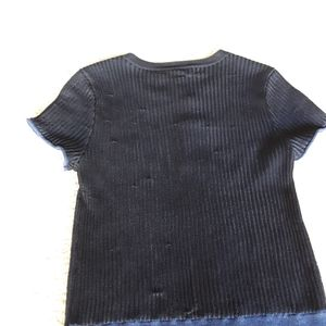 rag & bone Tops - Rag & Bone | NWT Cora Metallic Ribbed Tee